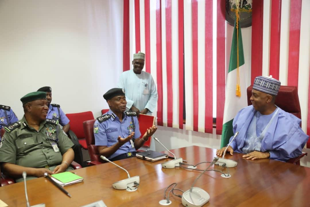 WhatsApp Image 2019 04 03 at 15.35.30 - Just In: Senate President, Bukola Saraki Meets With IGP Mohammed Adamu