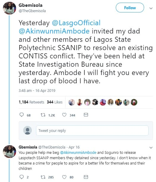 ambode tweet - Nigerian Lady Makes Strong Allegation Against Governor Ambode