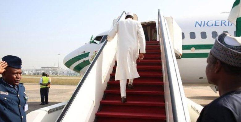 buhari plane 780x395 - Nigerians React To Buhari's 'Private Visit' To UK