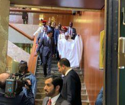 buhari qatar - Just In: Buhari, Emir of Qatar Meet Behind Closed-doors (Video)