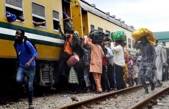 train ride - Train Hacks Beggar To Death In Lagos