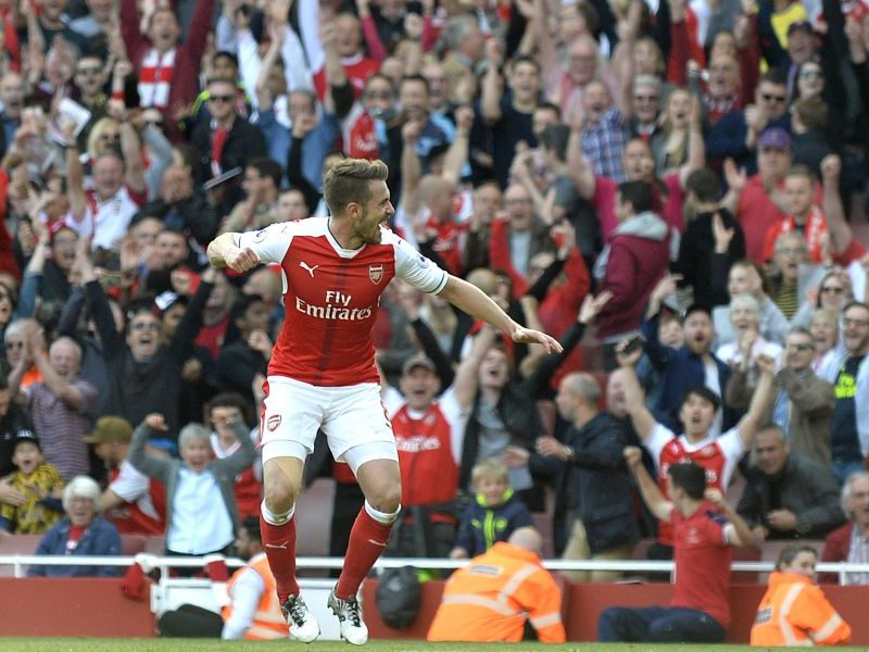 Aaron Ramsey celebrates Arsenal goal 800x600 - Ramsey Writes Emotional Farewell Letter As He Leaves Arsenal