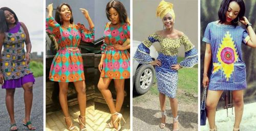 Ankara short flare gowns 1 - Latest Ankara Short Gown Styles And Designs