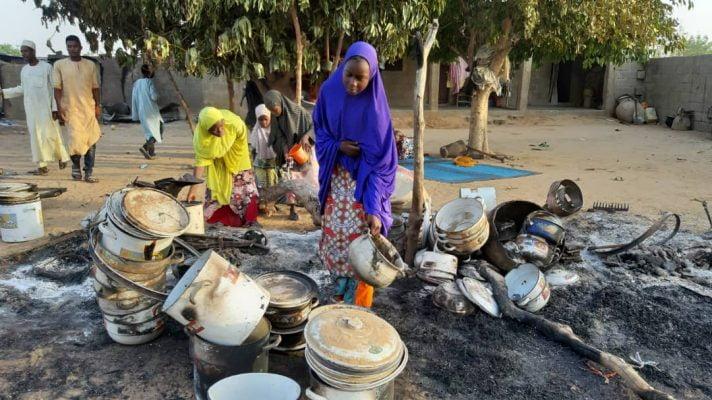 Boko Haram attacks Molai village in Borno 1 712x400 - 10 Killed, Others Injured, Military Check Point Burnt As Boko Haram Attacks Molai In Borno State
