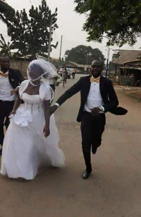 Bride runs 2 - Photos: Bride Runs Away From Wedding Ceremony After Discovering The Groom Lied To Her