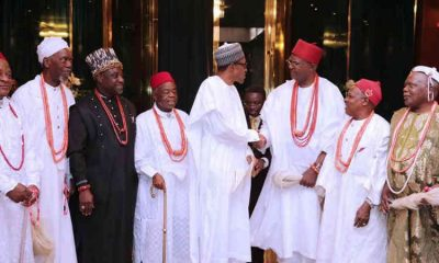 Buhari-Meets-with-traditional-rulers