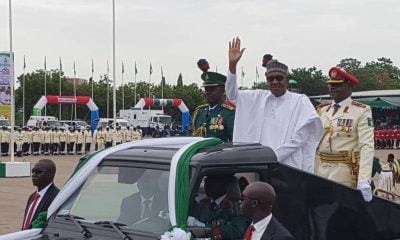 Buhari arrives eagle square