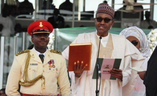 Buhari takes oath of office