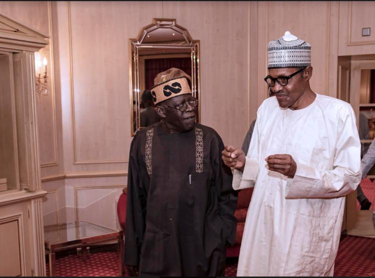 Capture 13 750x555 - Ramadan: Buhari Meets Tinubu, Breaks Fast (Photos)