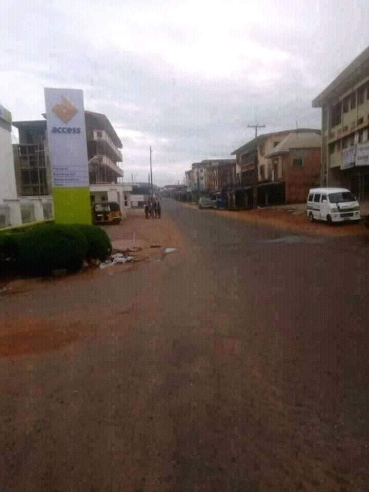 DESERTED STREETS - Biafra: See What Onitsha, Other Cities Look Like As IPOB Observes Sit-At-Home (Photos)