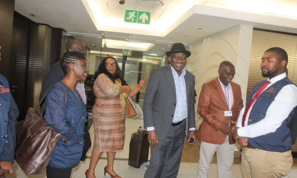 GEJ in South Africa 1000x600 - What Goodluck Jonathan Said About Democracy In Africa