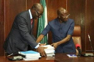 Godwin Obaseki AND Adams Oshiomhole 300x200 - Edo: Gov. Obaseki Threatens To Expel Adams Oshiomhole