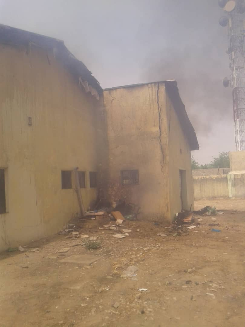 IMG 20190502 WA0007 - Fire Burns Down INEC Office In Jigawa State (Photos)