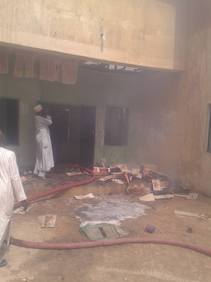 IMG 20190502 WA0009 - Fire Burns Down INEC Office In Jigawa State (Photos)