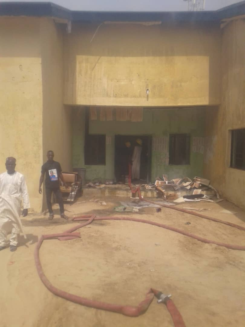 IMG 20190502 WA0013 - Fire Burns Down INEC Office In Jigawa State (Photos)