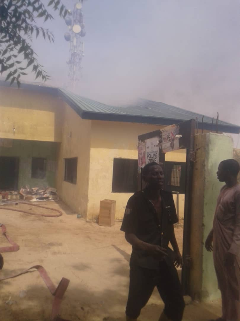 IMG 20190502 WA0014 - Fire Burns Down INEC Office In Jigawa State (Photos)