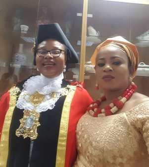 Obaze and Blessing - Nigerian, Victoria Obaze Becomes Mayor In UK (Pictures)