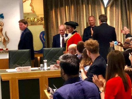 Obazes inauguration in pictures 1 - Nigerian, Victoria Obaze Becomes Mayor In UK (Pictures)