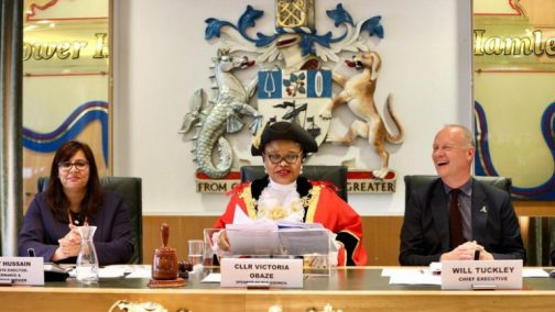 Obazes inauguration in pictures 4 768x433 - Nigerian, Victoria Obaze Becomes Mayor In UK (Pictures)