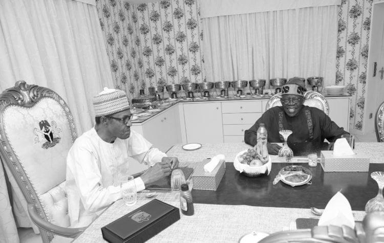 PRESIDENT BUHARI REMADAN BREAKFAST WITH ASIWAJU 2 750x475 - Ramadan: Buhari Meets Tinubu, Breaks Fast (Photos)