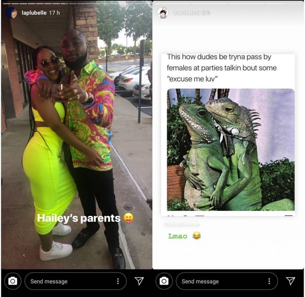 Screenshot 20190514 105200 1024x999 - Chioma Reacts To Picture Of Davido And His US-Based Baby Mama, Amanda