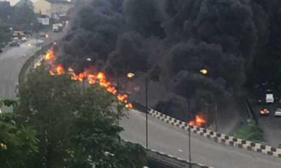 File Photo From Third mainland bridge fire