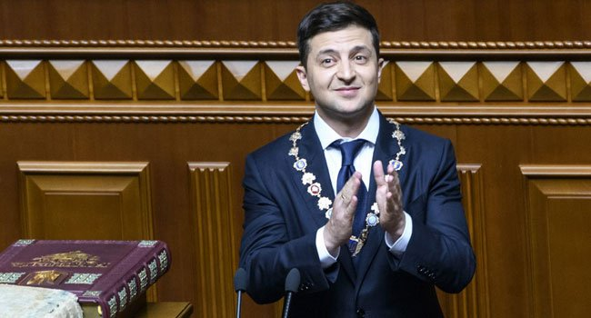 Ukraine president - Comedian Zelensky Officially Inaugurated As Ukrainian President (Pictures)
