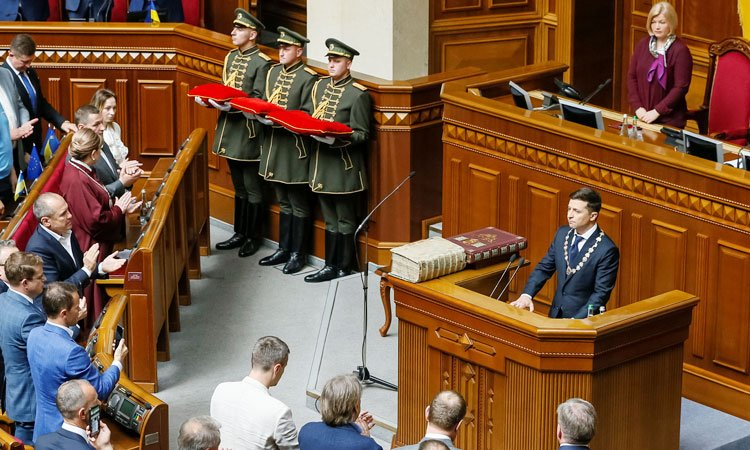 UkrainesPresident750 - Comedian Zelensky Officially Inaugurated As Ukrainian President (Pictures)