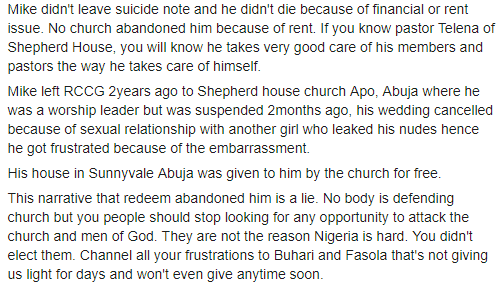 Umoren - Exposed: Why Popular RCCG Minister Committed Suicide