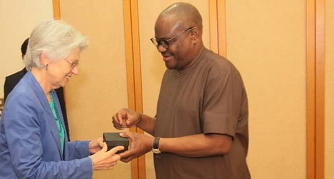 Wike and Marian - Nigerian Governor Wike Reports Security Challenges To Netherlands