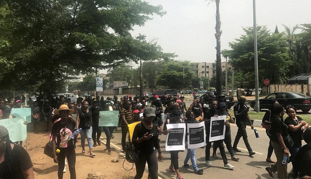 "Women protest against rape by Nigerian police 1000x576 - Nigeria: Women Arrested For Prostitution, Then ""Raped"" By The Police"