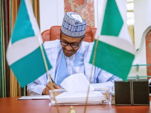 a63e3306 muhammadu buhari sign 300x225 - JUST IN: Buhari Signs Banks, Financial Institutions' Act 2020 Into Law