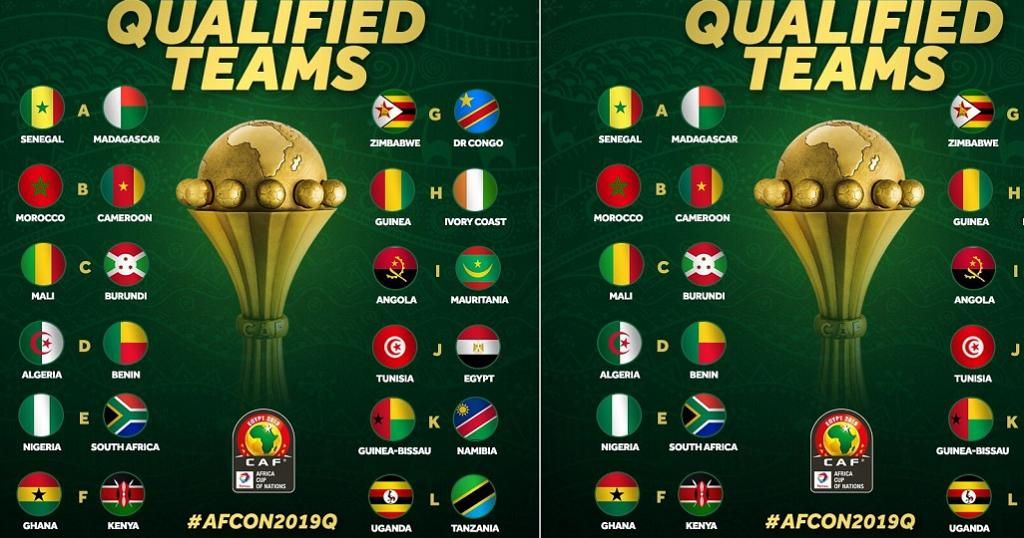 afcon teams