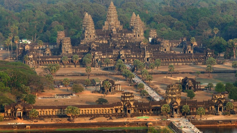 an aerial view of the angkor wat temple 2 - The Top Ten Strangest Places On Earth That Might Interest You