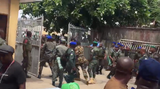 army, police clash