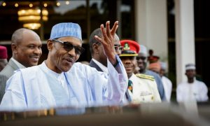 buhari happy 1000x600 300x180 - Boko Haram: Police, DSS Tighten Buhari's Minister Security