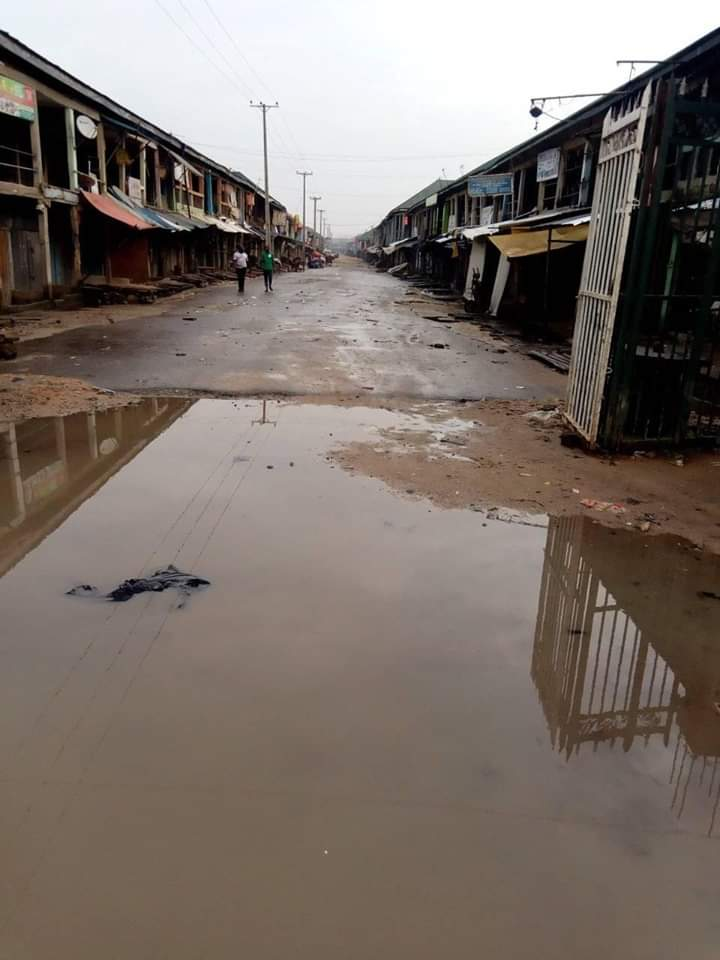 closed streets and shops - Biafra: See What Onitsha, Other Cities Look Like As IPOB Observes Sit-At-Home (Photos)