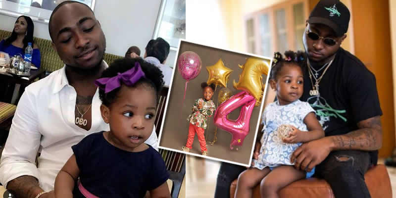 davido reveals how first daughter imade changed his life as he celebrates her 4th birthday 1 - Chioma Reacts To Picture Of Davido And His US-Based Baby Mama, Amanda