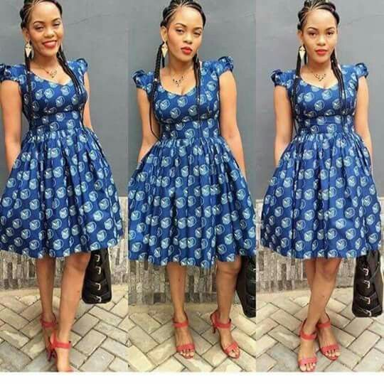 ebfead8f042d2effa0a7838523502b5b - Latest Ankara Short Gown Styles And Designs