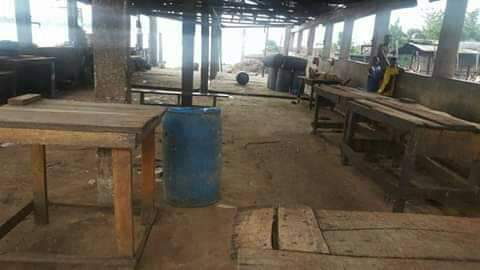 empty asaba slaughter market - Biafra: See What Onitsha, Other Cities Look Like As IPOB Observes Sit-At-Home (Photos)