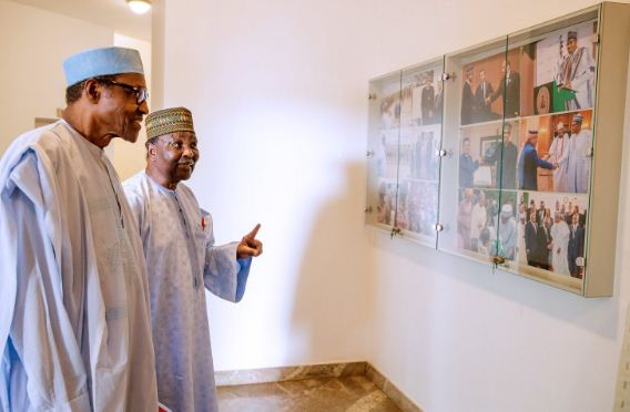gowon2 - Buhari Meets Former Head of State Gowon (Photos)