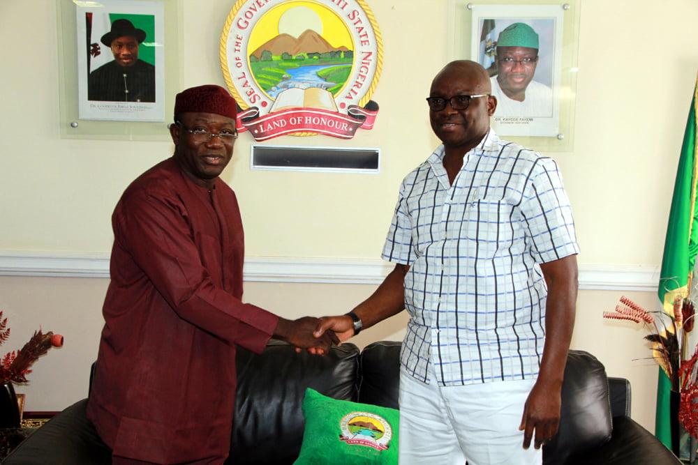 Fayemi Sends Message To Fayose Over Sister's Death