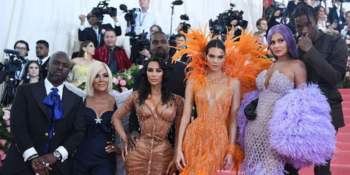 met gala the kardashian and jenner family members and their partners pictured together at the event - Met Gala 2019: From 4 Outfits Of Lady Gaga To The Kardashians As Stars Sizzle On The Red Carpet (Photos)