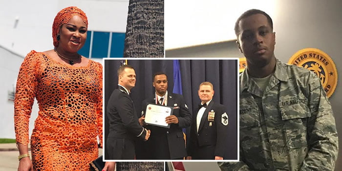 Degree, Nollywood Actress Bukky Wright's Son, Degree, United States Air Force