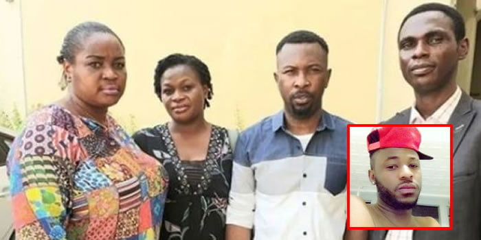 ruggedman shows support for late kolade johnson shows up in court with the deceased s family photos - Ruggedman Spotted In Court With Slain Kolade Johnson's Family