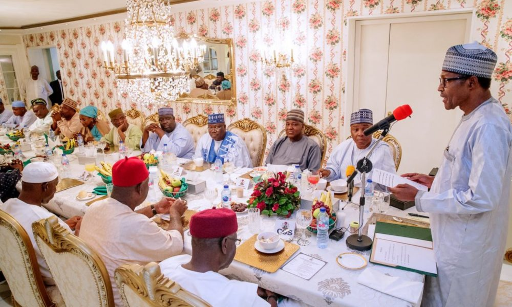 sar 1000x600 - What Buhari Told Saraki, Dogara At Ramadan Dinner