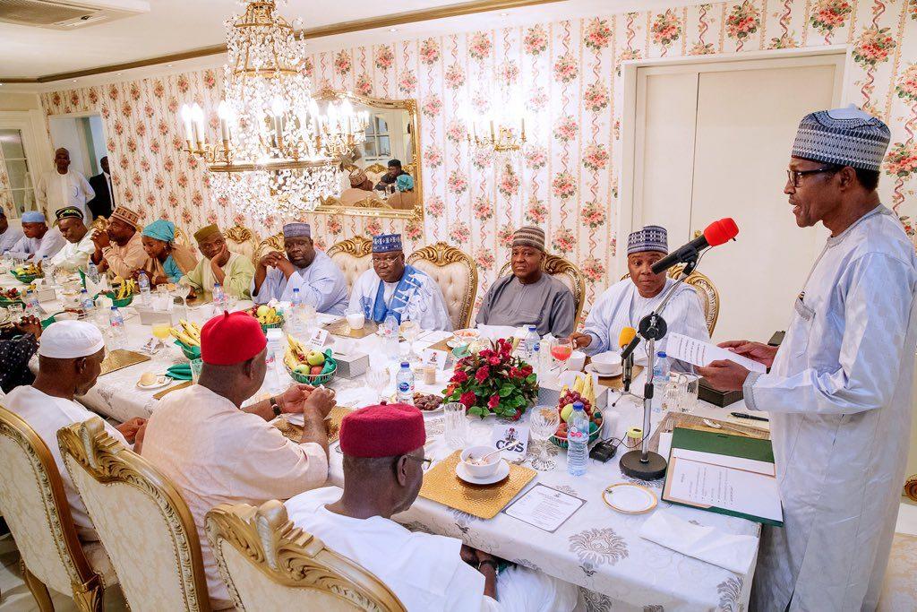 sar 1024x683 - Breaking: Buhari Meets Saraki, Dogara, Others (Photos)