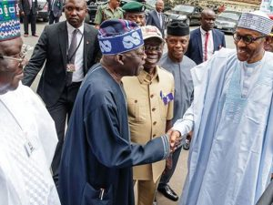 51eb6533 buhari greets tinubu 300x225 - Herdsmen: Why Tinubu Is Afraid Of Buhari – Afenifere Chieftain, Adebanjo