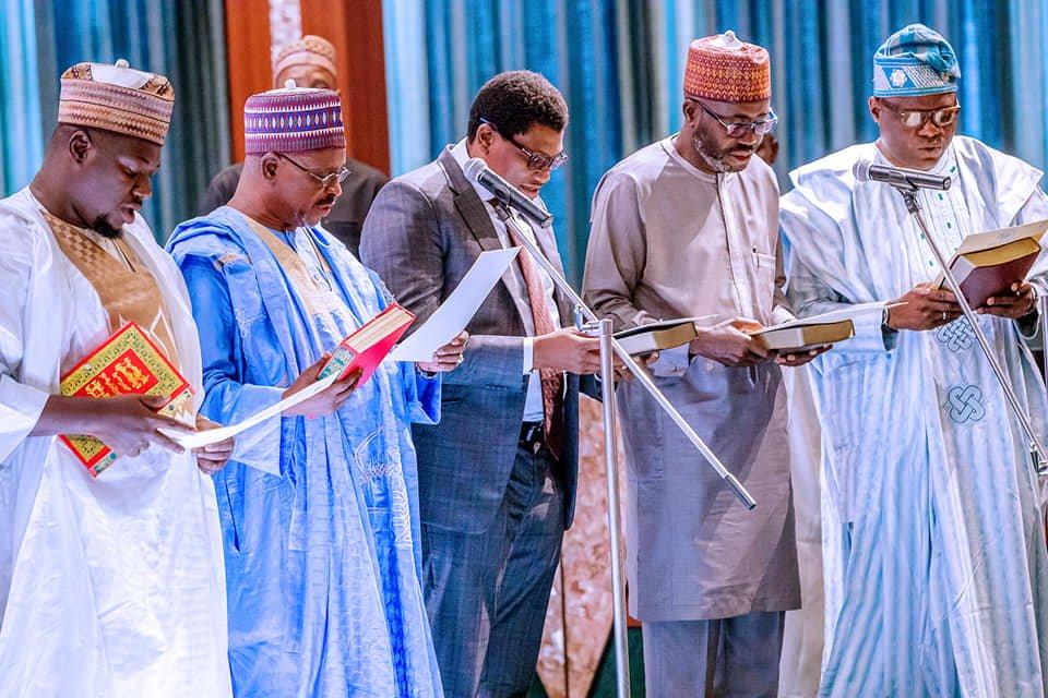 65174753 2278224585603202 8451954511303409664 n - Pictures: President Buhari Swears-In RMAFC Chairman, Members