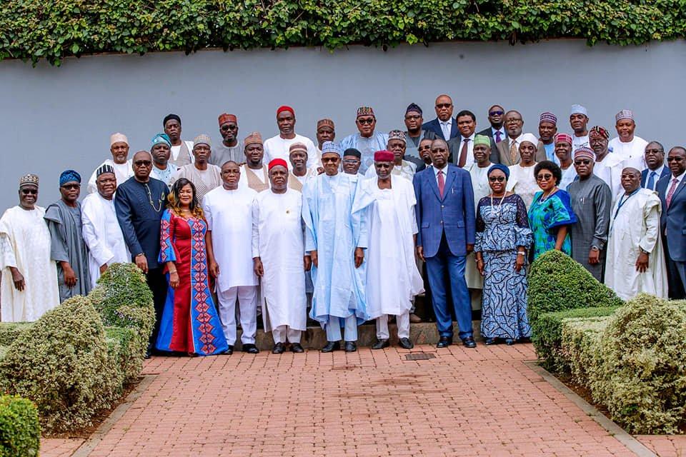 65445674 2278224255603235 3918838554414809088 n - Pictures: President Buhari Swears-In RMAFC Chairman, Members